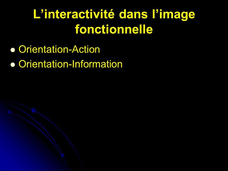 Linteractivité dans limage fonctionnelle Orientation-Action Orientation-Information