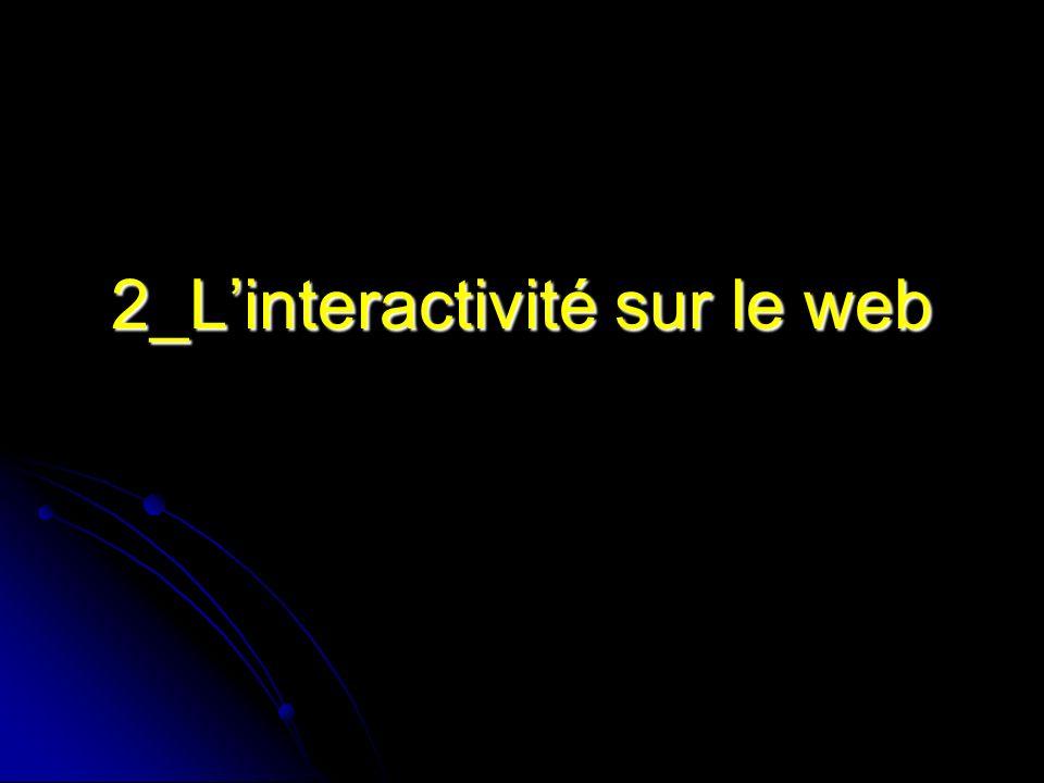 2_Linteractivité sur le web