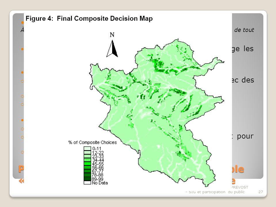 Pratique de planification spatiale exemple « the Woodland planting system »-suite Au total, 125 réponses exploitables.