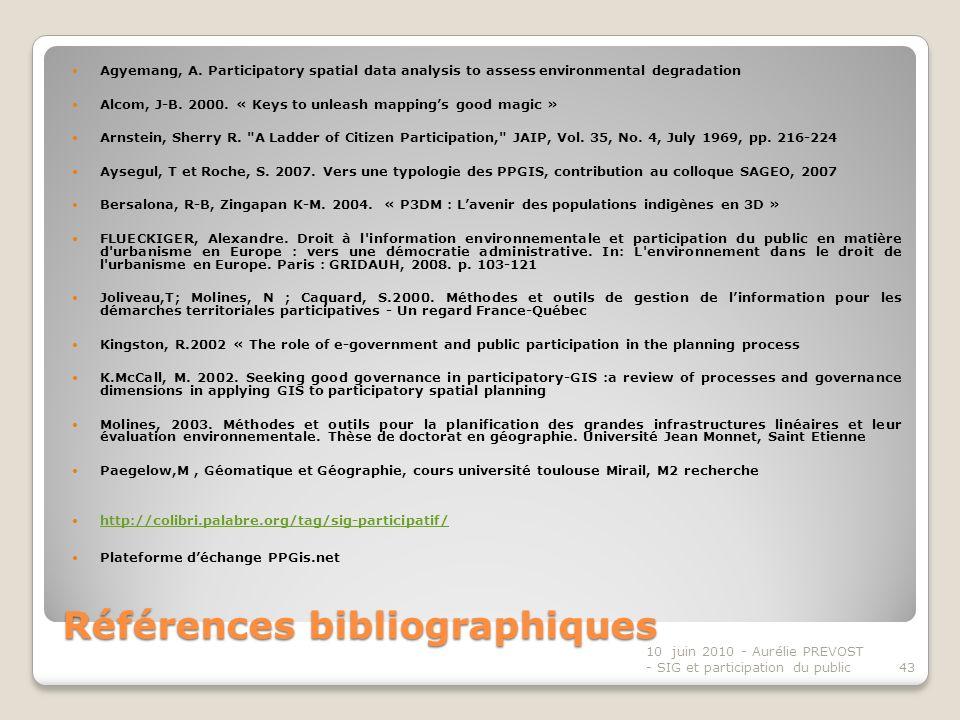 Références bibliographiques Agyemang, A.