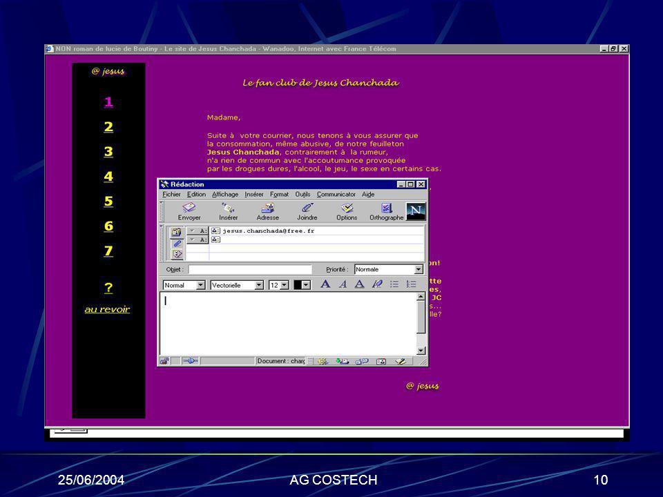 25/06/2004AG COSTECH10 Ex du récit interactif