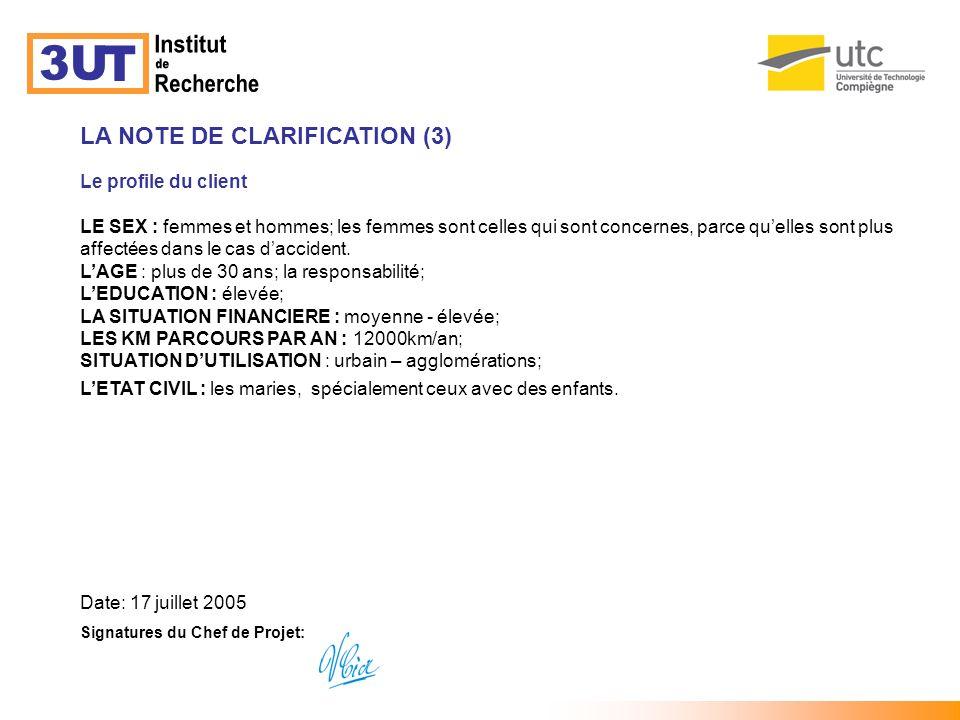 MATRICE DE SEGMENTATION