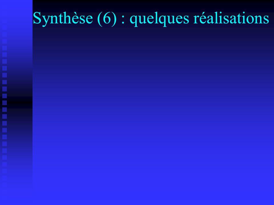 Synthèse (6) : quelques réalisations