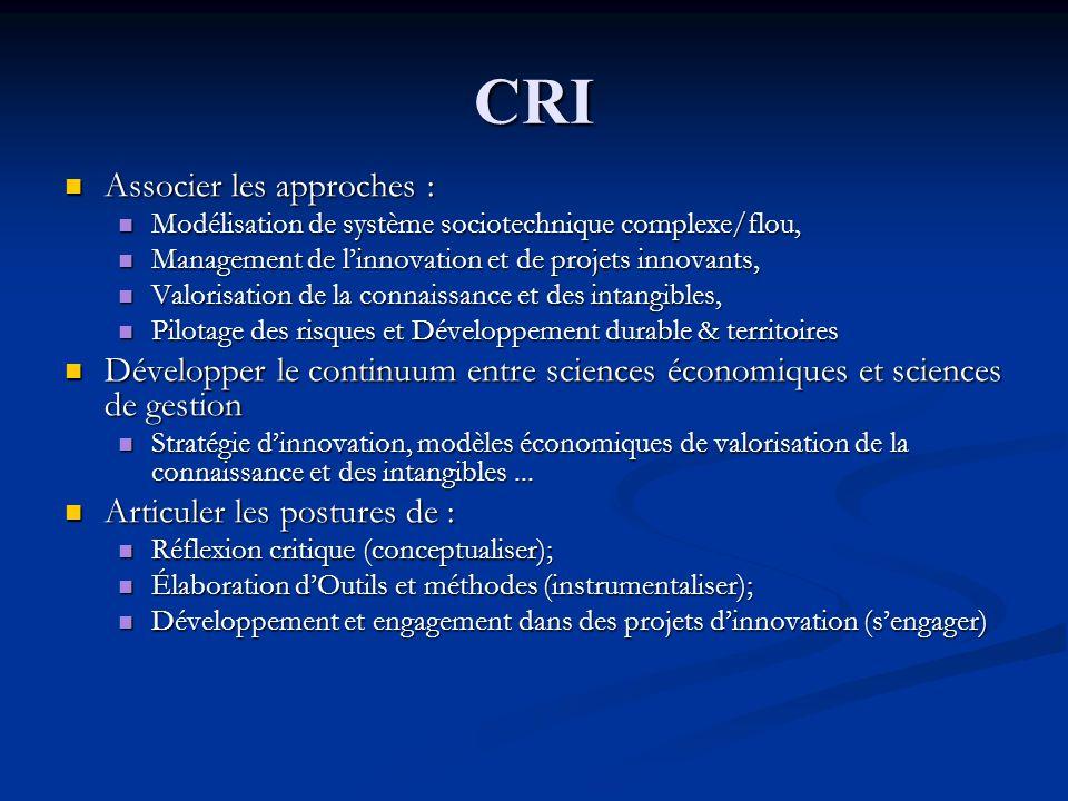 CRI Associer les approches : Associer les approches : Modélisation de système sociotechnique complexe/flou, Modélisation de système sociotechnique com