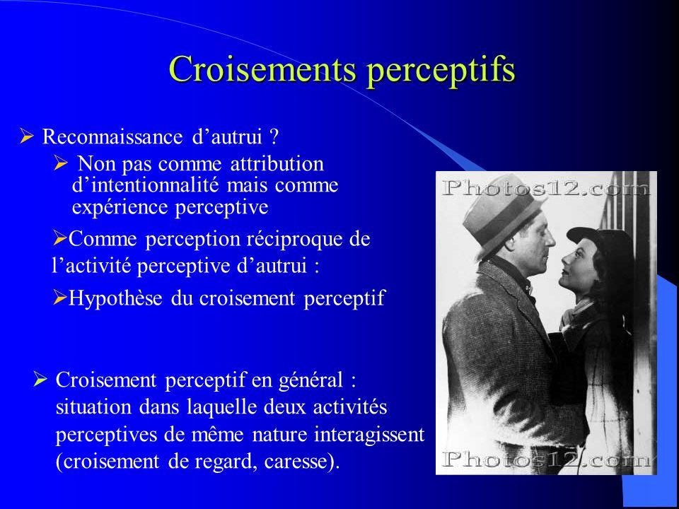 Croisements perceptifs Reconnaissance dautrui .