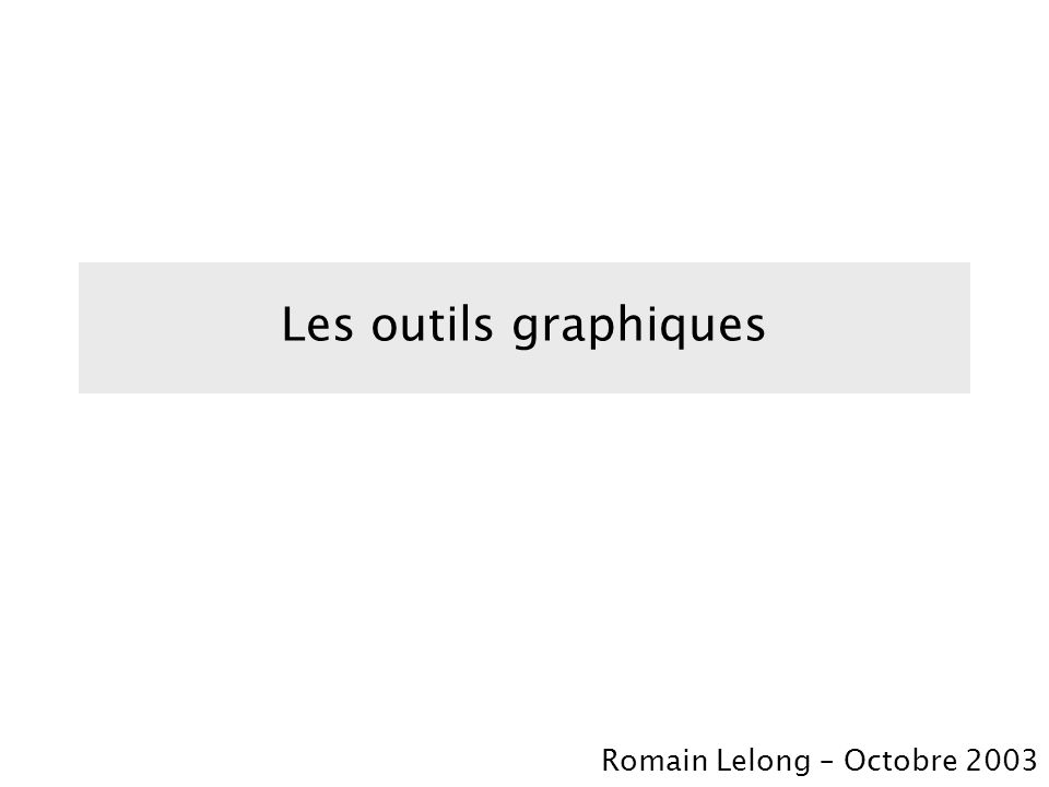 Types daspects graphiques