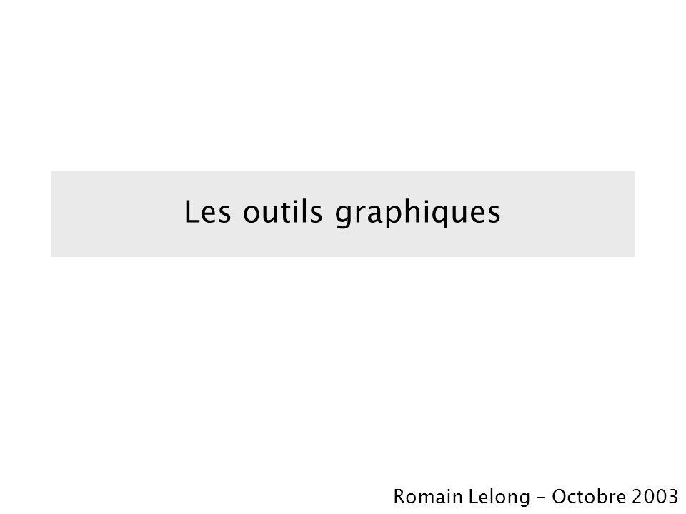 Les outils graphiques Romain Lelong – Octobre 2003