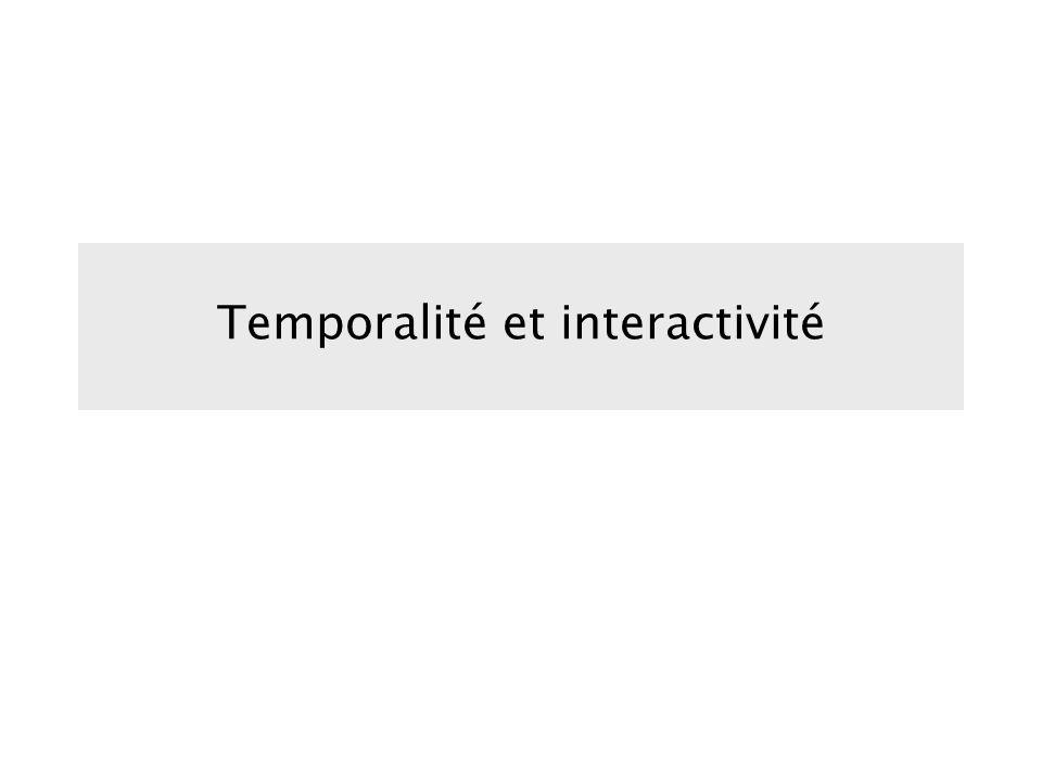 Temporalité et interactivité