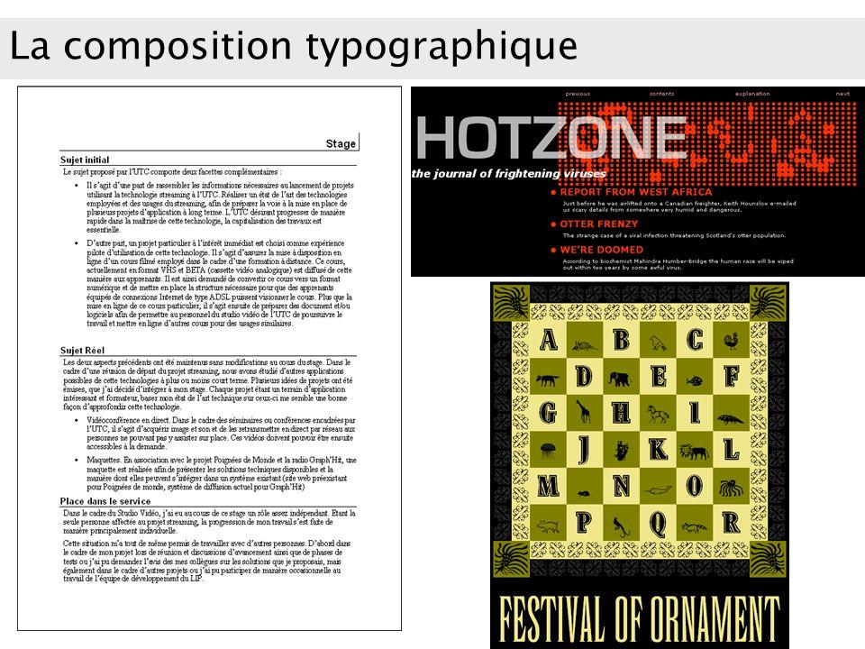 La composition typographique