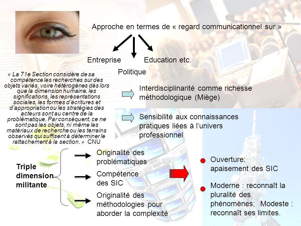 3- Le point de vue communicationnel sur… SUITE A LA PROCHAINE REUNION…