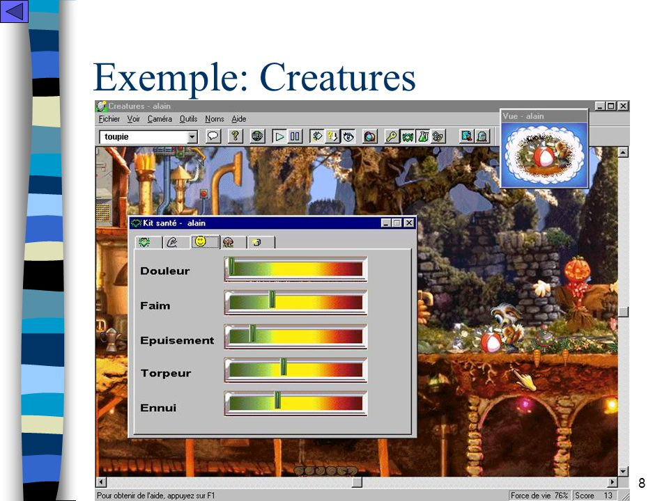LINC - Equipe Technologies & Communications 9 Exemple: Les Sims