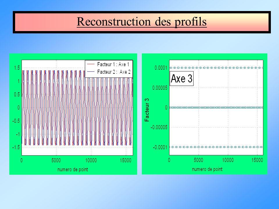 Reconstruction des profils