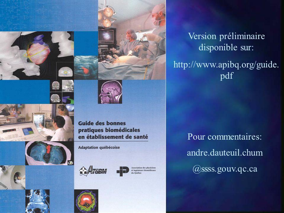 Version préliminaire disponible sur: http://www.apibq.org/guide.