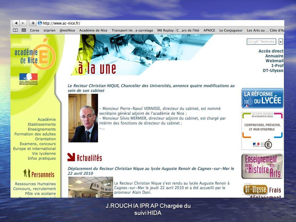 J.ROUCH IA IPR AP Chargée du suivi HIDA