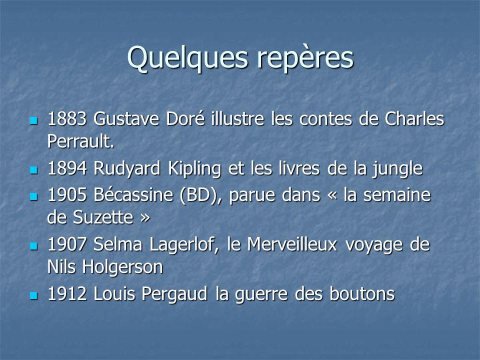 Quelques repères 1883 Gustave Doré illustre les contes de Charles Perrault. 1883 Gustave Doré illustre les contes de Charles Perrault. 1894 Rudyard Ki