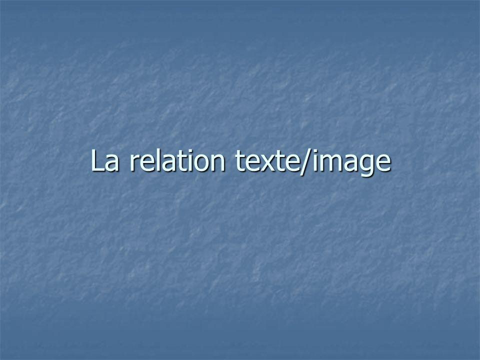 La relation texte/image