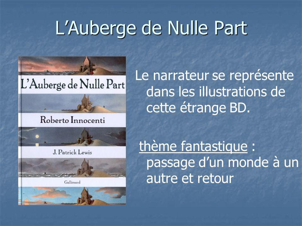 LAuberge de Nulle Part Le narrateur se représente dans les illustrations de cette étrange BD. thème fantastique : passage dun monde à un autre et reto
