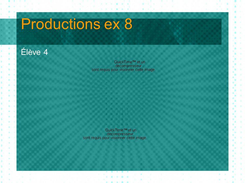 Productions ex 8 évaluation de lélève 4 Évaluation de lélève 4 1 : Présent dans la production 2 : « Deviné » dans la production ou suggéré par ladulte 3 : Inexistant