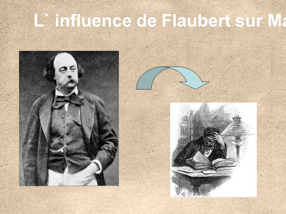 Dans des annees 70, Flaubert est devenu le professeur de littérature de Maupassant.