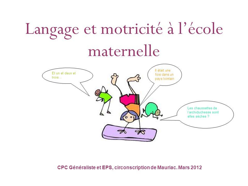 Langage et motricité à lécole maternelle…. Les programmes