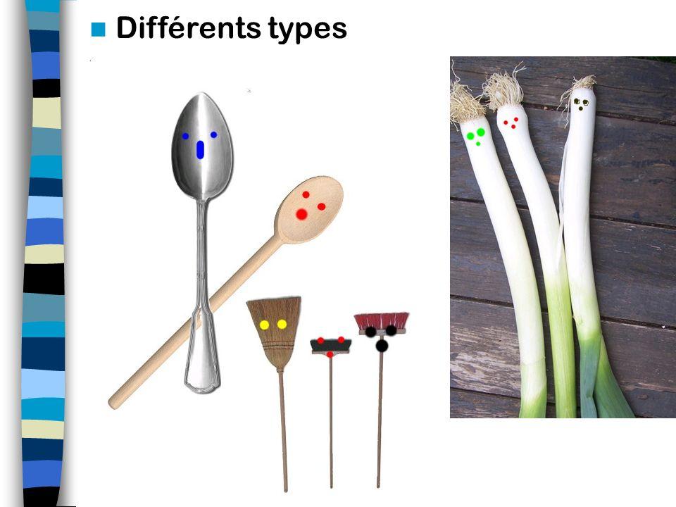 Différents types