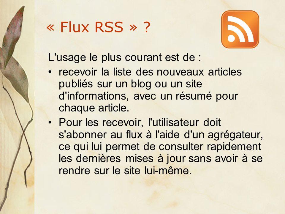 « Flux RSS » .