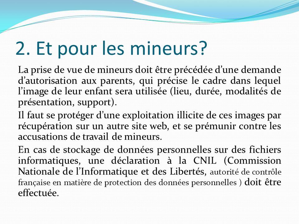 3.Droit de limage Pour tout usage dune image, il faut demander lautorisation de son auteur.