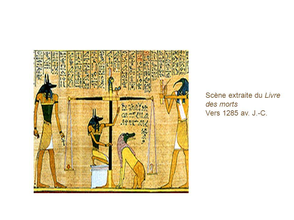 Scène extraite du Livre des morts Vers 1285 av. J.-C.