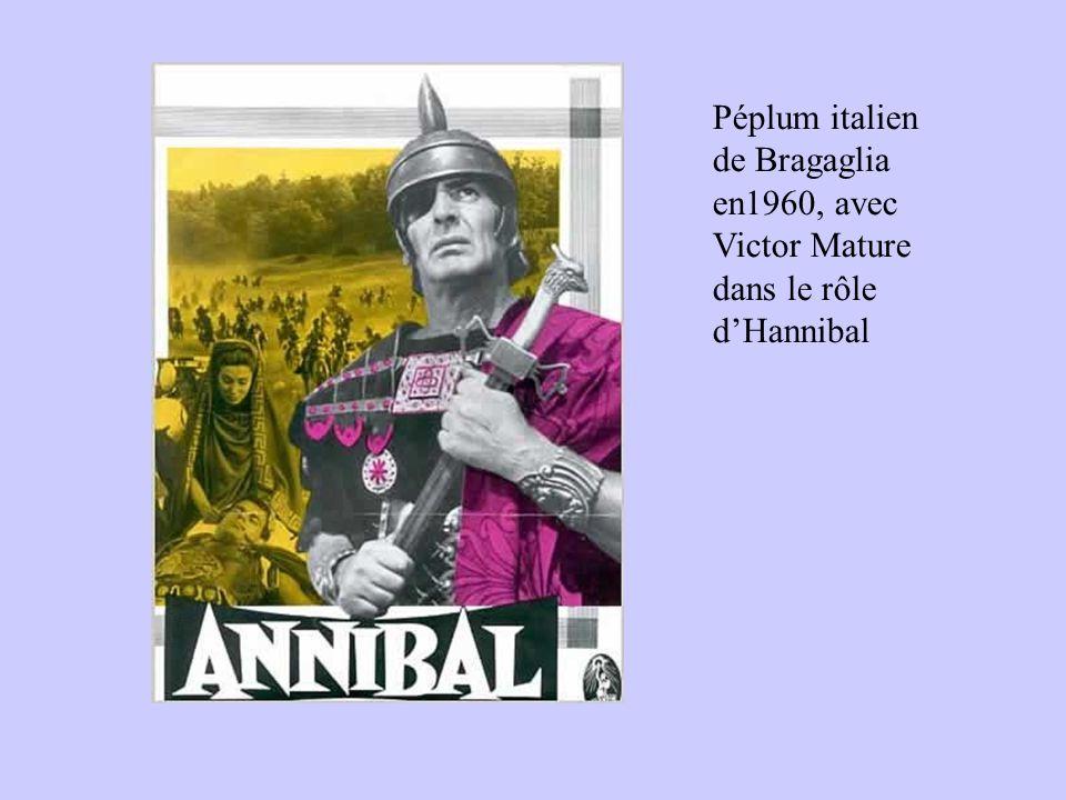 Péplum italien de Bragaglia en1960, avec Victor Mature dans le rôle dHannibal