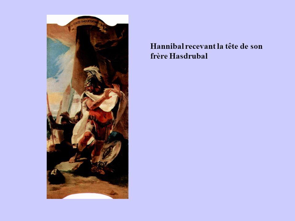 Hannibal recevant la tête de son frère Hasdrubal