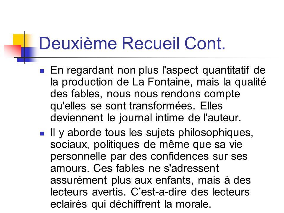Deuxième Recueil Cont.