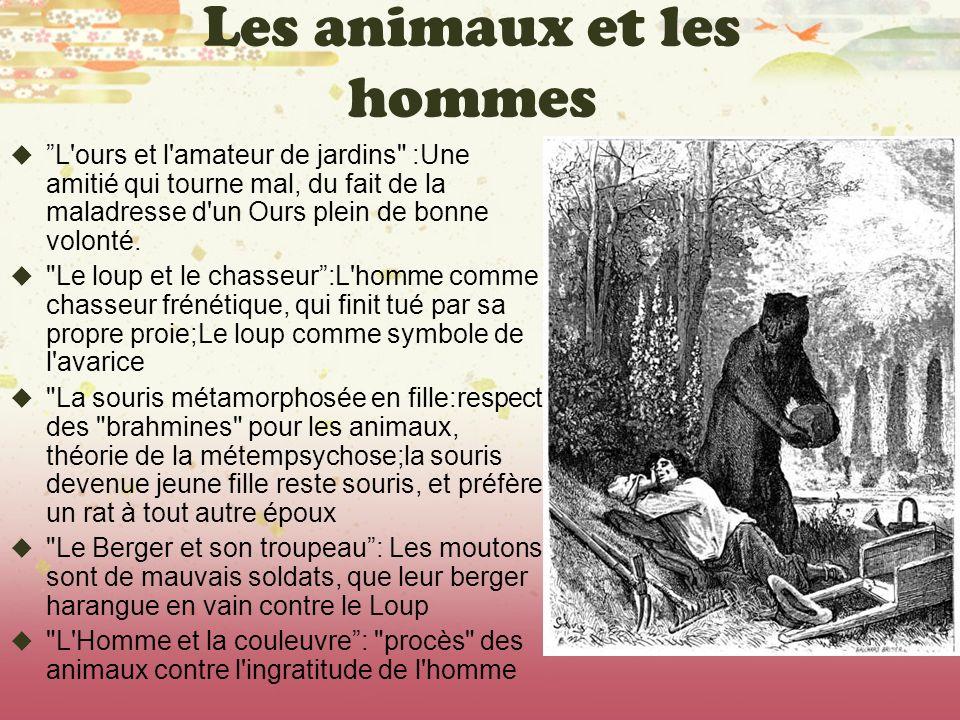 Les animaux et les hommes L'ours et l'amateur de jardins