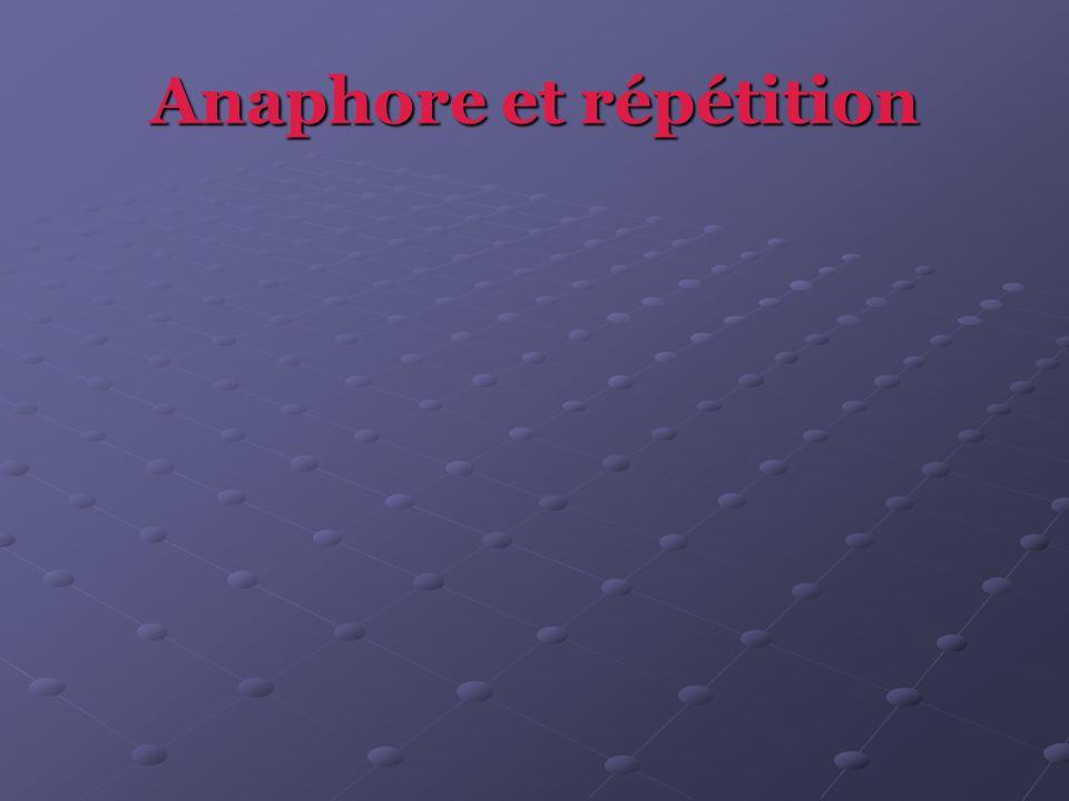 Anaphore et répétition