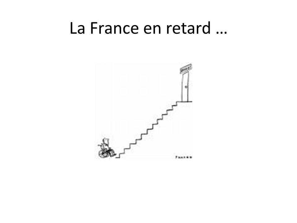 La France en retard …