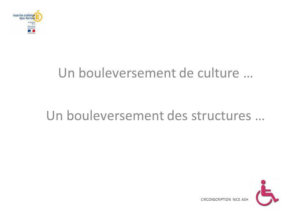 Un bouleversement de culture … Un bouleversement des structures … CIRCONSCRIPTION NICE ASH