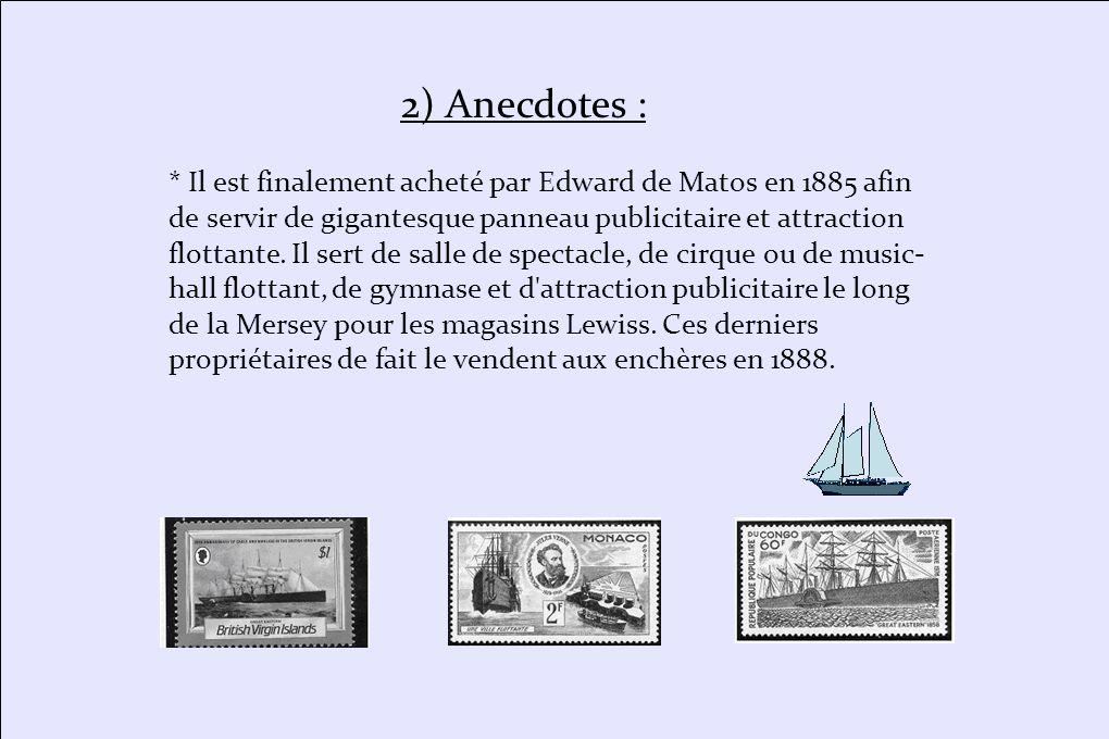 * Le 10 septembre 1861, beaucoup de passagers embarquent à Liverpool, mais la tempête est terrible au large de l Irlande, le navire perd ses roues à aubes, une hélice, le gouvernail se brise.