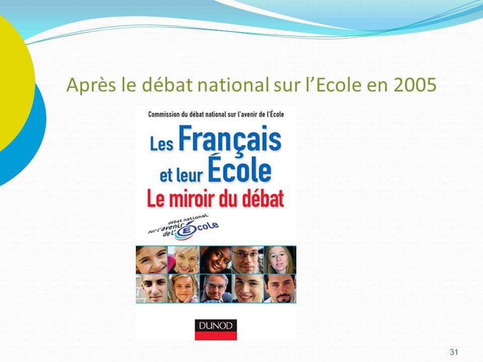 31 Après le débat national sur lEcole en 2005