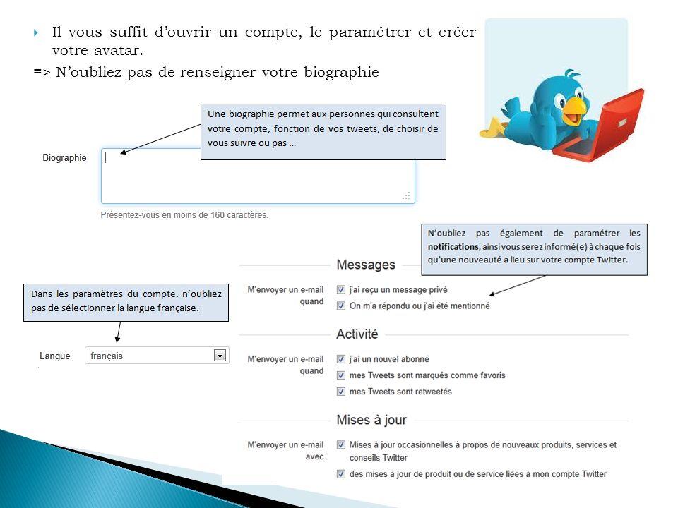 Un tweet ou gazouillis est le message que vous allez diffuser.