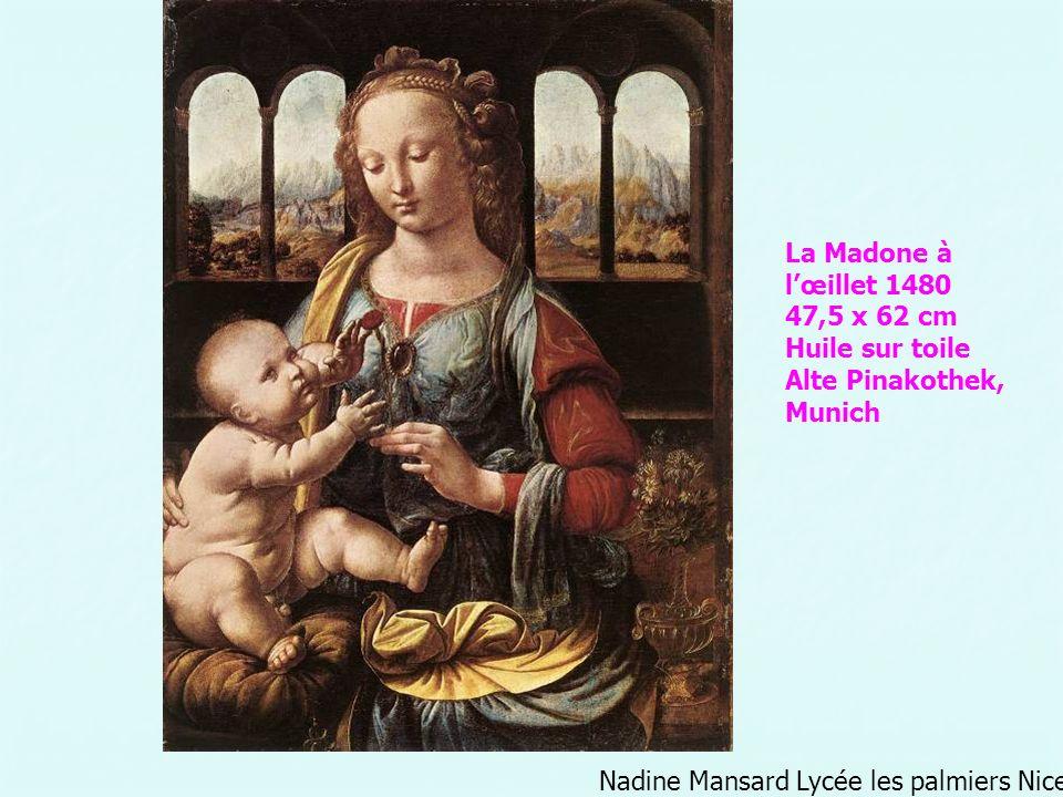 Nadine Mansard Lycée les palmiers Nice La Madone à lœillet 1480 47,5 x 62 cm Huile sur toile Alte Pinakothek, Munich