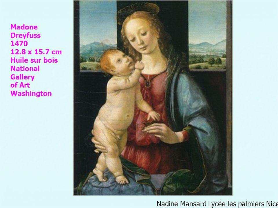 Nadine Mansard Lycée les palmiers Nice Madone Dreyfuss 1470 12.8 x 15.7 cm Huile sur bois National Gallery of Art Washington