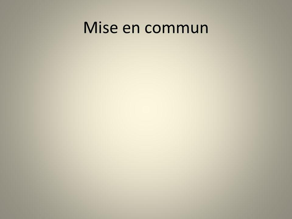 Mise en commun