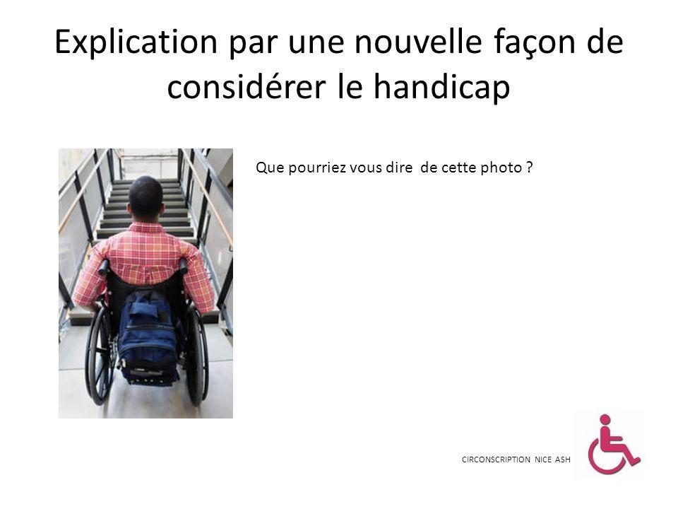 Explication par une nouvelle façon de considérer le handicap CIRCONSCRIPTION NICE ASH Que pourriez vous dire de cette photo ?