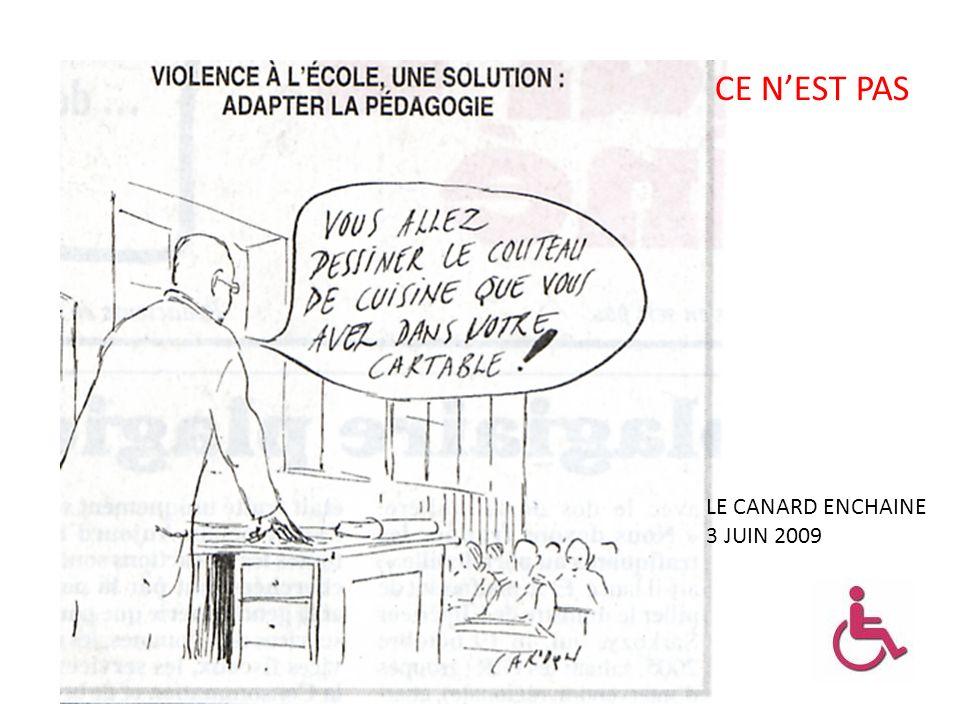 LE CANARD ENCHAINE 3 JUIN 2009 CE NEST PAS