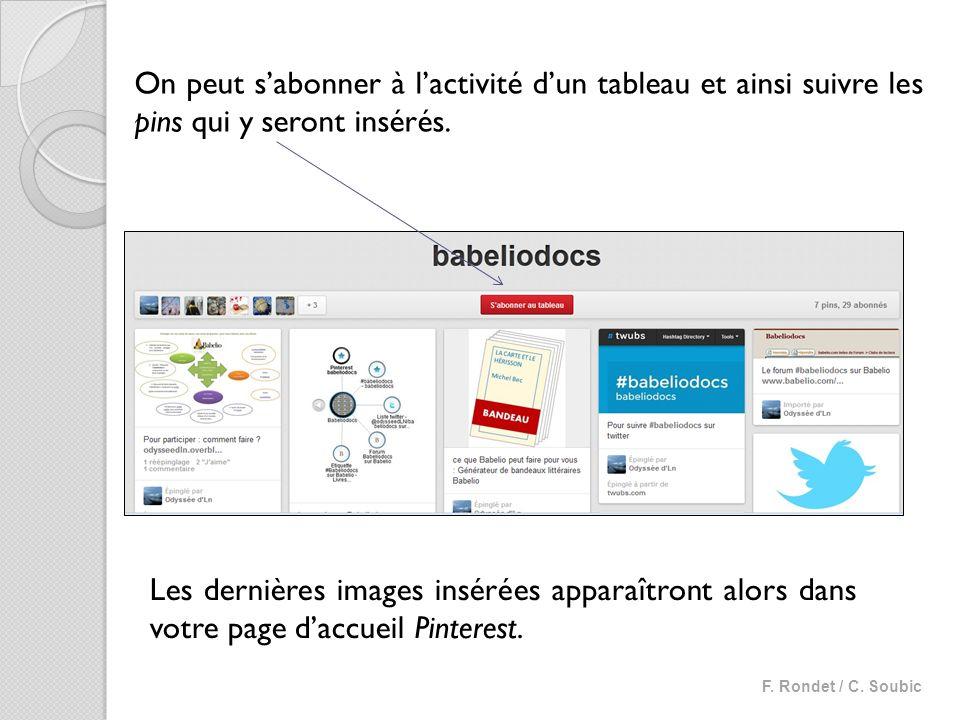Utiliser la fonction « ré-épingler » On peut réépingler des images de tableaux dans ses propres tableaux et les partager sur les réseaux sociaux.