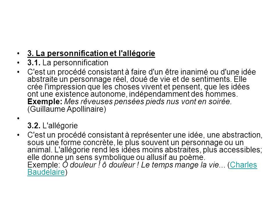 3.La personnification et l allégorie 3.1.
