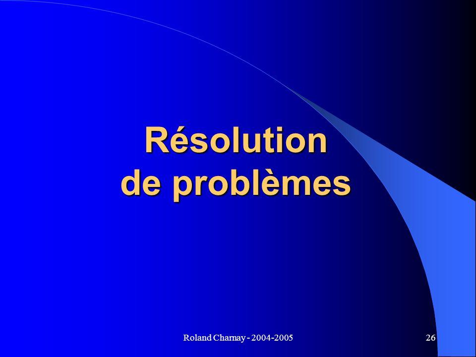Roland Charnay - 2004-200526 Résolution de problèmes
