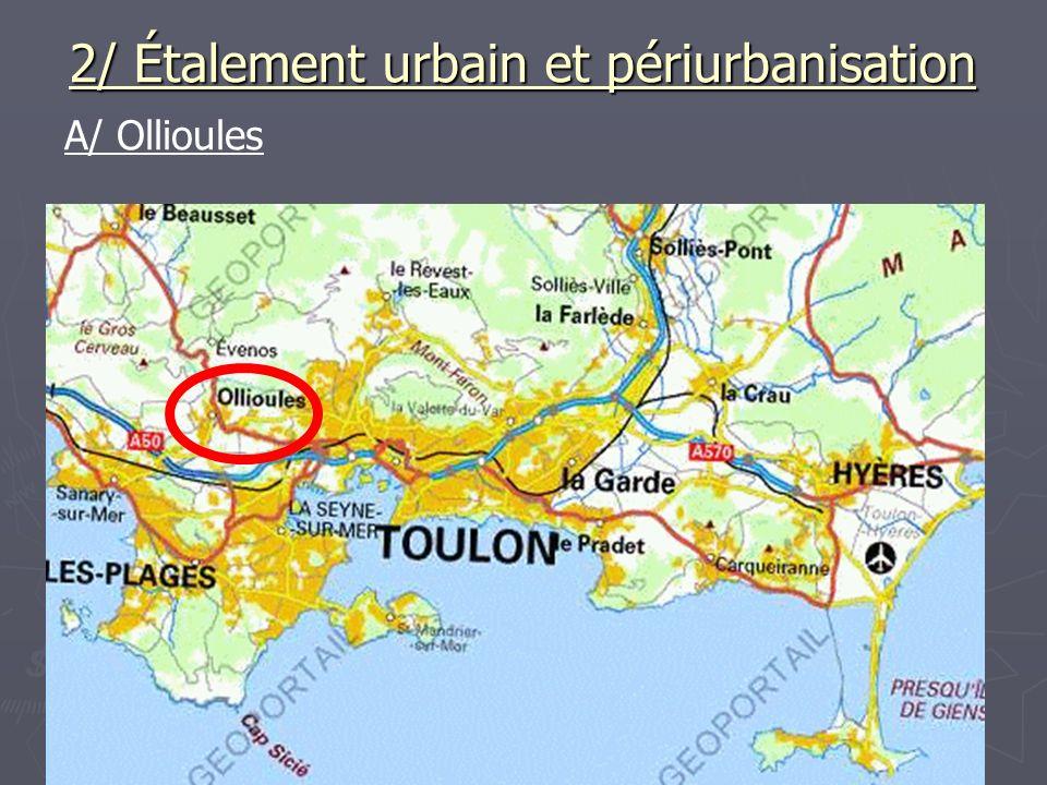 2/ Étalement urbain et périurbanisation A/ Ollioules