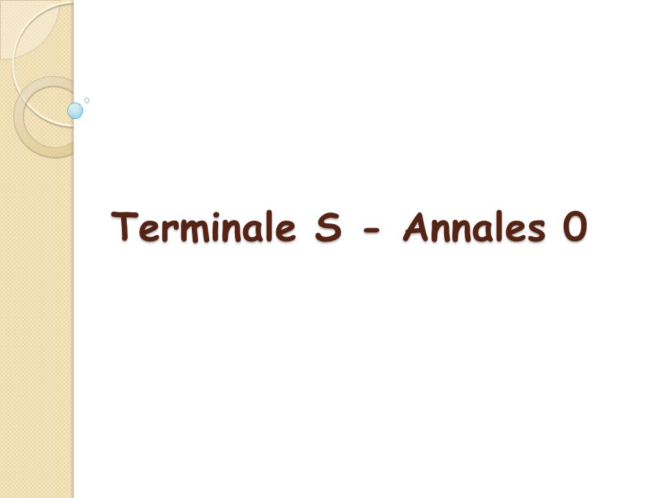 De nouveaux programmes en Terminale dans le prolongement de ceux de 2 nde et de 1 ère