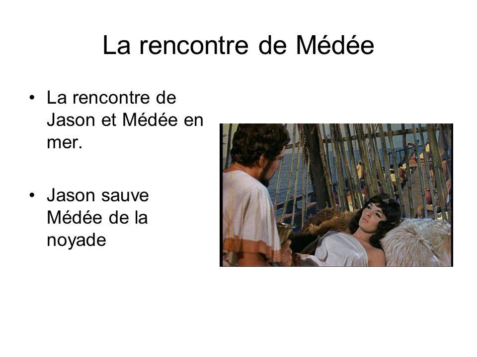 La rencontre de Médée La rencontre de Jason et Médée en mer. Jason sauve Médée de la noyade