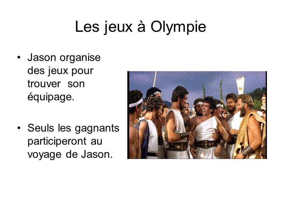Les jeux à Olympie Jason organise des jeux pour trouver son équipage. Seuls les gagnants participeront au voyage de Jason.